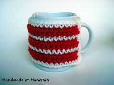 Mug cozy or mug warmer  handmade crochet by HaniyyaBazaar on Etsy, $6.00