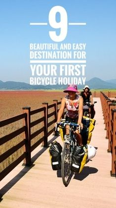 9 great and easy destinations for your your first bicycle trip. Get started with bicycle touring. Find easy cycling holiday destination, doesn't matter if you're a beginner, everyone can travel by bike Bicycle Holiday, Cycling Holiday, Holiday Travel, Cycling For Beginners, Budget Holidays, Slow Travel, Travel Tips, Travel Ideas, Travel Inspiration