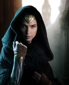 Gal Gadot as Wonder Woman.