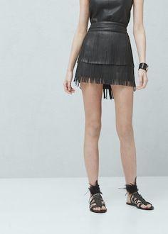 Falda flecos - Faldas de Mujer | OUTLET España