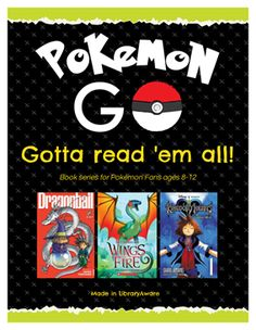 """Want to get your library involved in the Pokémon Go craze?    We've put together a quick starter kit to get you going! Log into LibraryAware to print or customize these ready-to-go items. Search """"Pokemon"""""""