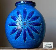LARGE XL Vintage 60' BITOSSI by ALDO LONDI Flover Vase Italian Pottery Fat LavaE #Vases