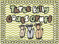 Cute activities for Three Billy Goats Gruff.  Mini lesson on adjectives too.