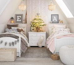 Shop Pottery Barn Kids' Reindeer Friends Shared Kids Room for shared bedroom ideas and inspiration. Find furniture, bedding and more that will be perfect for siblings sharing a room. Boy And Girl Shared Room, Little Girl Rooms, Baby And Toddler Shared Room, Toddler Girl, Shared Bedrooms, Teen Girl Bedrooms, Boy Girl Bedroom, Twin Bedroom Ideas, Boy Room