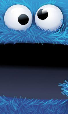 Cookie Monsters - cute #bigface cartoon iPhone wallpaper @mobile9