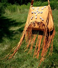 Deerskin Bag with Cowries