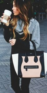 #fall #outfits / black + pattern print