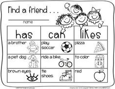 first day at school activities - Google Search