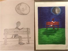 And the side-by-side. #drawing #illustration #sketch #talkingtothemoon #brunomars