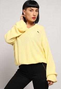 Vintage Lacoste V-Neck Knitted Jumper