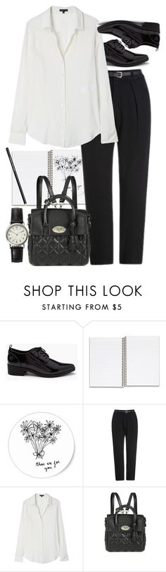 """""""Untitled #8799"""" by nikka-phillips ❤ liked on Polyvore featuring mode, Forever 21, Theory, Mulberry et FOSSIL"""