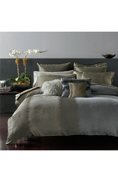donna karan home reflection silver collection bedding collections bath and bedrooms