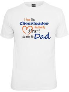 Cheer dad shirt in white. by PinkPigPrinting on Etsy, $12.99