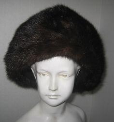 Brown Mahogany Fur Cap Hat Real Genuine Mink Vintage Millinery #vintagefur #keepwarm http://www.ebay.com/itm/Brown-Mahogany-Fur-Cap-Hat-Real-Genuine-Mink-Vintage-Millinery-/171532224859?roken=cUgayN&soutkn=TtXeJ6