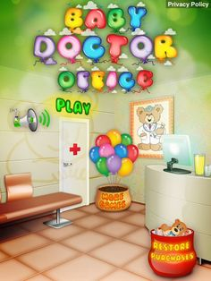 Baby Doctor Office App. Kids Game Apps.