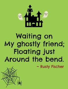 My ghostly friend... A Halloween poem