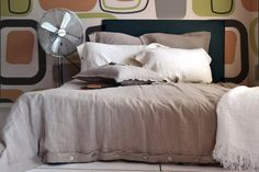 "Pure stonewashed linen quilt / duvet cover ""Pure Elegance"", Natural flax colour, King/Queen sizes available"