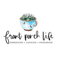 Premade Logo - Teacup Succulents Premade Logo Design - Customized with Your Business Name!