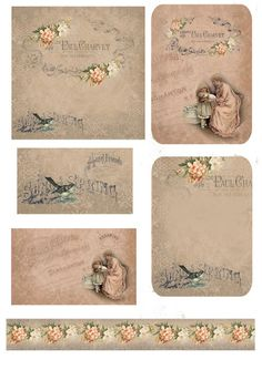 Romantic tags, Free for personal use Vintage Tags, Vintage Labels, Vintage Ephemera, Vintage Paper, Vintage Prints, Vintage Style, Printable Labels, Printable Paper, Free Printables