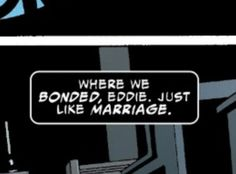 """agendervenom: """"There's been a few people here and there in the tags trying to start ship discourse but… Yall seem to forget that eddie/venom are canon in the comics… this is pretty much basic level. Eddie Brock Venom, Venom Movie, Venom Comics, Classic Fairy Tales, Movie Dates, Comic Page, Pet Names, Marvel Cinematic Universe, Marvel Dc"""