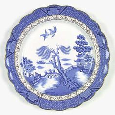 My china, Real Old Willow - Love this!  Need more dinner plates!