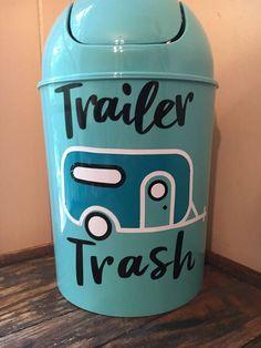 Trailer Trash Trash Can RV Decor Small Trash Can RV Trash