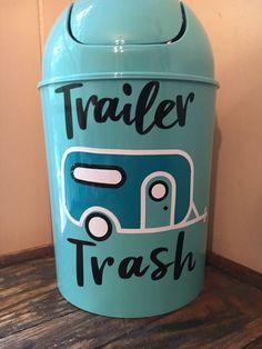Trailer Trash Trash Can RV Decor Small Trash Can RV Trash
