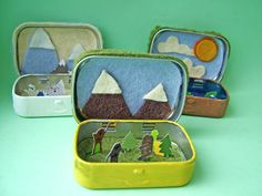 Turn an old altoids tin into a Tiny Cryptozoology World: Cute Idea and Tutorial from small world land