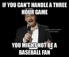 """If you want a shorter game, go watch the NBA. """"Pace of play"""" rules = slippery slope. #LeaveBaseballAlone"""