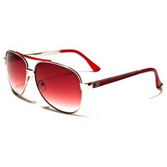 Dxtreme Unisex Aviators Red and Silver with Red Gradient Lenses Red Sunglasses, Lenses, Aviation, Unisex, Silver, Women, Kids, Young Children, Boys