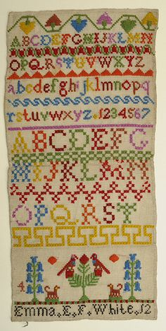 Sampler, about 1860 to 1880