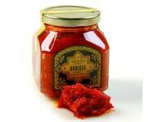 Harissa (North African Chili Paste) available at Whole Foods New Recipes, Whole Food Recipes, Good Food, Yummy Food, Salsa, Food Photography, Spices, Jar, Stuffed Peppers
