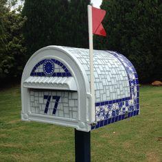 Caixa Azul e Branco - com numeral
