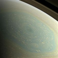 Saturn's North Pole. The north pole of Saturn, in the fresh light of spring, is revealed in this color image from NASA's Cassini spacecraft.