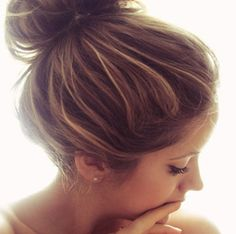 messy buns for lazy days