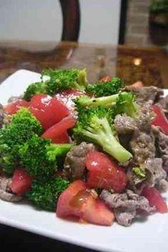 牛肉トマトブロッコリのおかずなサラダ の画像
