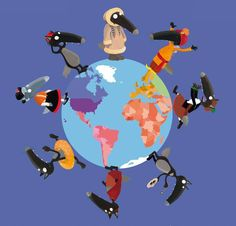 Loup tour du monde Les Continents, French Immersion, Cool Kids, Wolf, Preschool, Around The Worlds, Clip Art, Cartoon, Activities