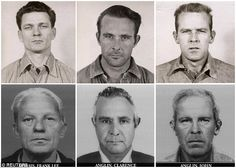 Escape from Alcatraz ~ New computer models that consider the San Francisco Bay's tides, winds and other factors reveal John and Clarence Anglin and Frank Morris stood a small chance of paddling to freedom from Alcatraz. Here, prison mug shots of the trio are compared to images of how they might look today