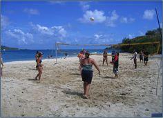 Volleyball at Vixen Point, North Sound Virgin Gorda, BVI!  www.seatrekbvi.com #shoretime #summercamp