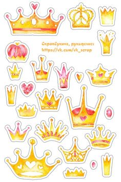 Картинки с коронами, высечки, надписи, принцесса, королева