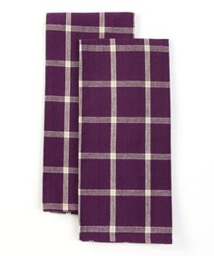 Take a look at this Design Imports Purple Windowpane Dish Towel - Set of Two by Colorful Kitchen Collection on #zulily today!