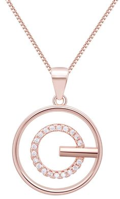 Rose Gold Plated 925 Sterling Silver Chain Zirconia Diamond Circle Pendant Necklaces Made With Swarovski Elements Women Fine Jewelry Set Online with $12.05/Piece on Dedejeffgao's Store | DHgate.com