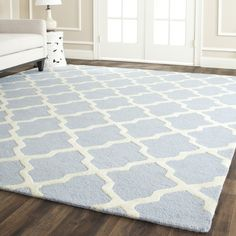 Safavieh Handmade Cambridge Moroccan Oriental Light Blue Wool Rug - Overstock™ Shopping - Great Deals on Safavieh 7x9 - 10x14 Rugs