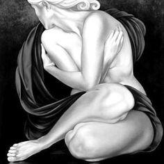 donna-dipinto-bianco-e-nero