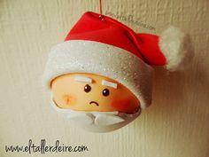 Cómo hacer bolas de Papá Noel | Aprender manualidades es facilisimo.com