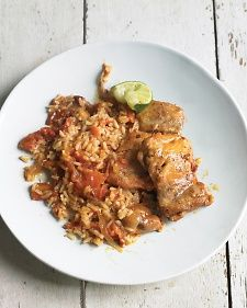 One Pot Meals   Chipotle Chicken and Rice Very spicy! Half the chipotles and/or dilute with beans.