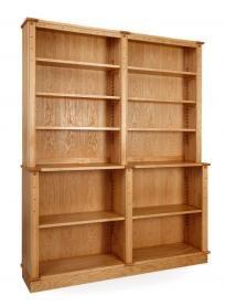 'Arts & Craft' Bookcase in oak & laburnum