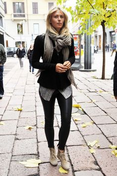 Leather pant outfit..love