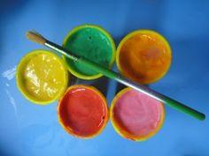 homemade paint, homemade paint for kids, homeschool preschool, preschool art, toddler art  FLOUR  DISH SOAP  WATER   FOOD COLORING