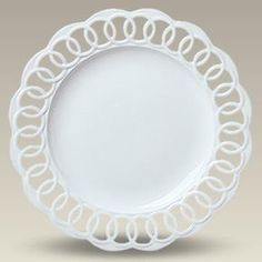 """13"""" Round Openwork Plate.  Beautiful Charger from Maryland China"""
